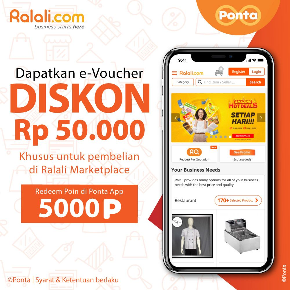 #Ponta - Promo Redem 5K Point Dapat E-Voucher Ralali 50K (s.d 22 Jan 2019)