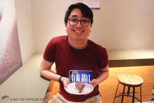 Birthday Celebration with Virtual Candles in Coffee Bean