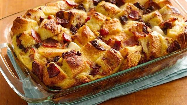Bacon and Date Cinnabon Strata