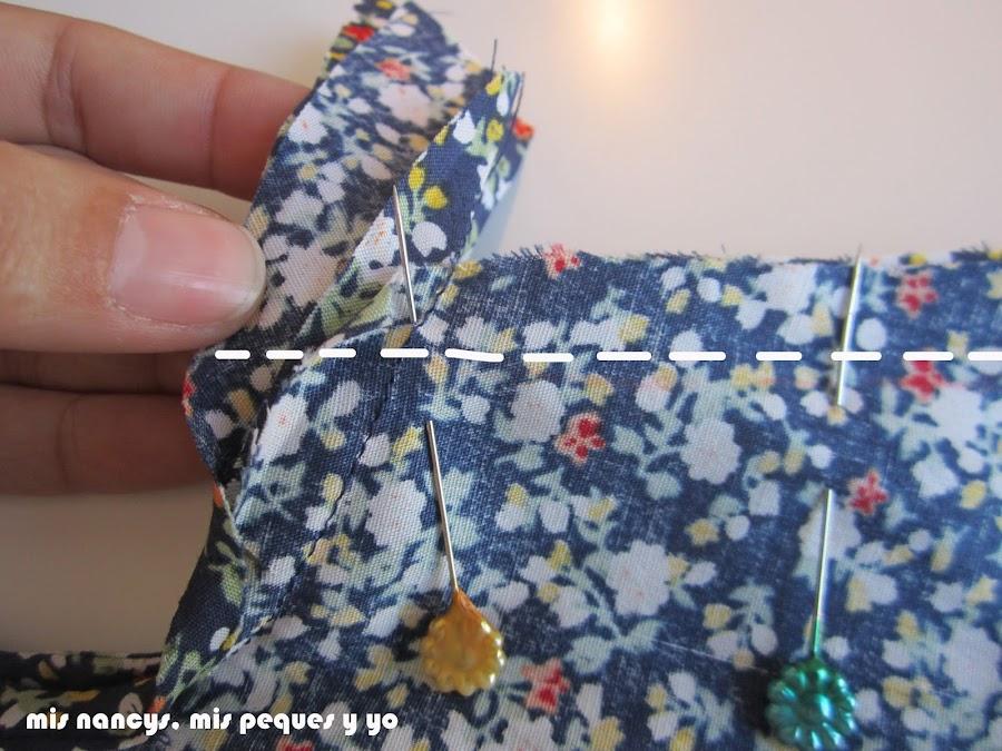 mis nancys, mis peques y yo, tutorial blusa sin mangas niña (patrón gratis), coser costados detalle bies sisas