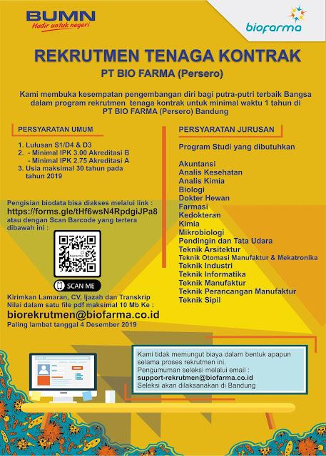 Lowongan Kerja PT Bio Farma (Persero)
