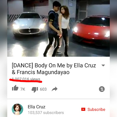 Ella Cruz 'Body On Me' dance video with Francis Magundayao reaches 1-million Youtube views!
