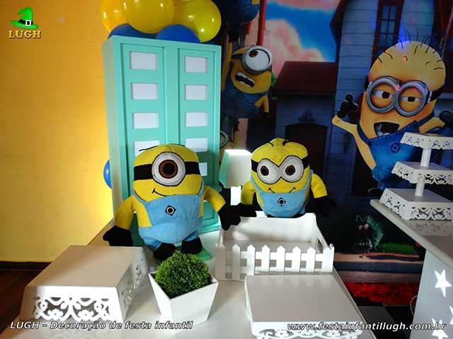 Decoração de festa infantil Minions - Mesa decorativa de aniversário
