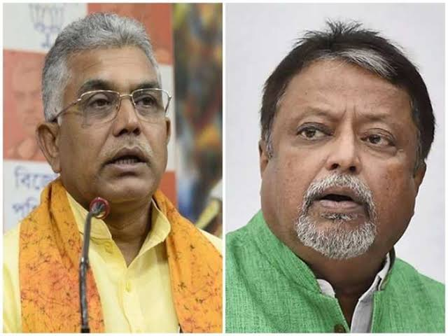 Mukul Roy has shamelessly sat on the BJP bench. Dilip Ghosh's sarcasm