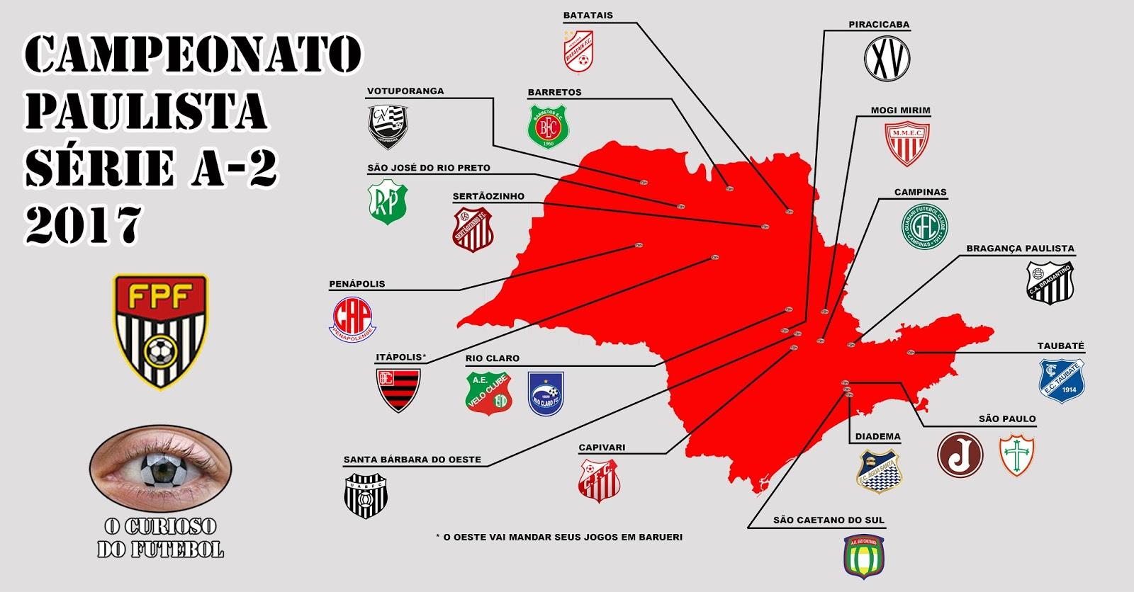 Paulista da Série A-2 de 2017  pegará fogo  ~ O Curioso do Futebol 993f220269ed8
