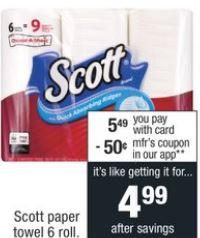 CVS Deal on Scott Paper Towels $1.00 12-8-12-14