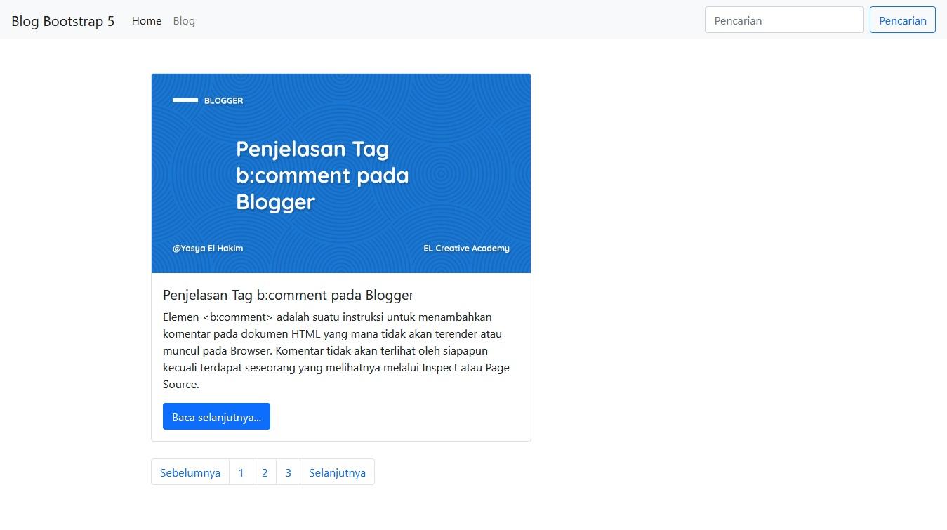 Konten Pagination Bootstrap 5