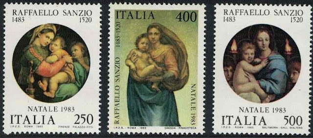 Italy Christmas 500th Birth Anniversary of Raphael artist