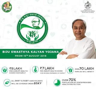 Odisha government launched Biju Swasthya Kalyan Yojana