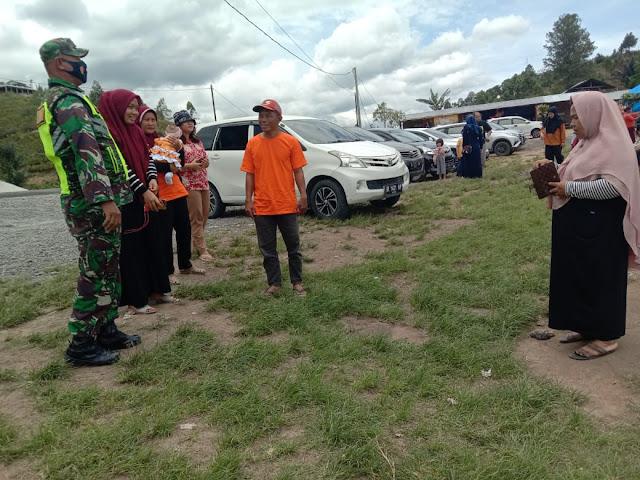 Penegakkan Disiplin Protokol Kesehatan Kepada Masyarakat Dilakukan Personel Jajaran Kodim 0207/Simalungun