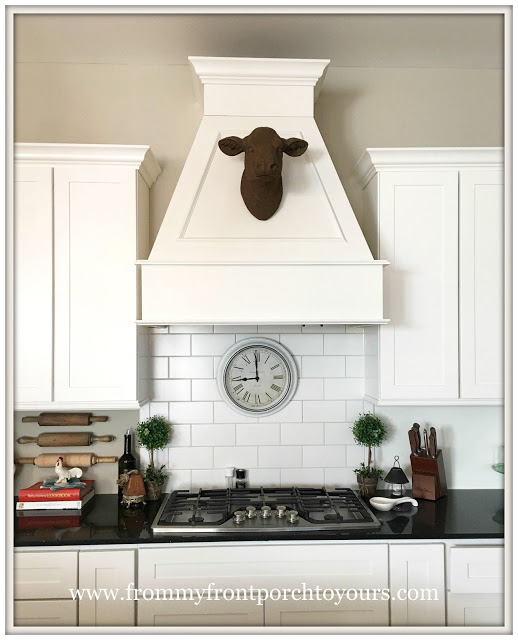 farmhouse kitchen range hood-cow head--from my front porch to yours
