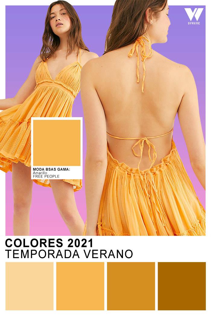 Colores 2021 primavera verano 2021 moda mujer amarillo