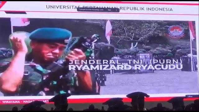 Raih Gelar Doktor HC, Jenderal Purn Ryamizard Ryacudu Sosok Teladan bagi Prajurit TNI