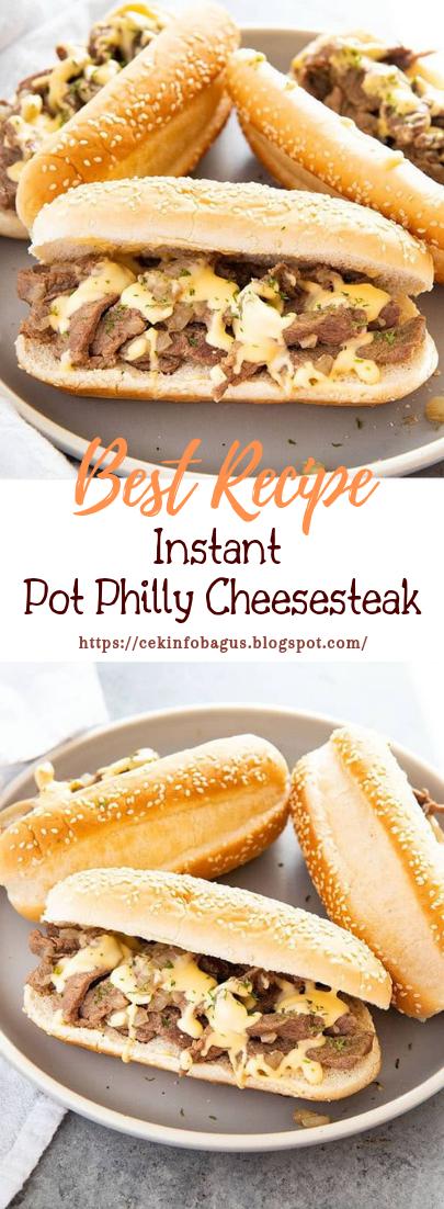 Instant Pot Philly Cheesesteak #dinnerrecipe #food