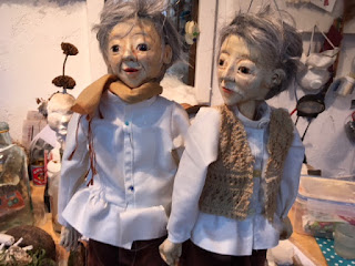 two puppets in the making- Reflection Project by Corina Duyn