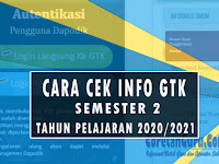 Cara Cek Validasi Data GTK Semester 2 Tahun Pelajaran 2020/2021
