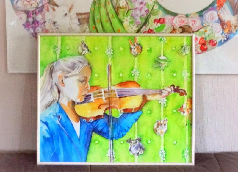 aquarel schilderen violen