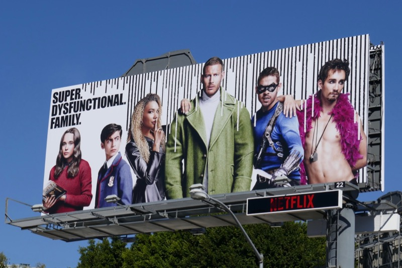 Umbrella Academy Netflix series billboard
