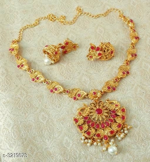 Attractive Brass Alloy Jewellery Set
