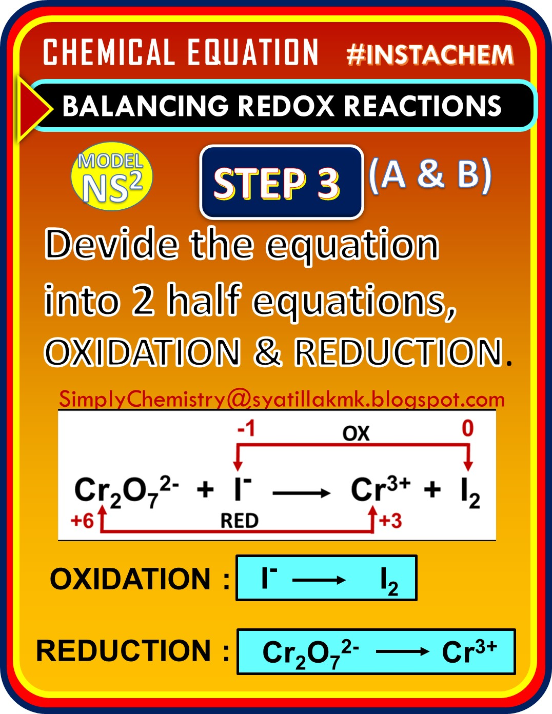 Simplychemistry Balancing Redox Equation