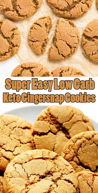 Super #EasyRecipes #LowCarb #Keto Gingersnap #Cookies
