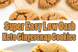 Super Easy Low Carb Keto Gingersnap Cookies
