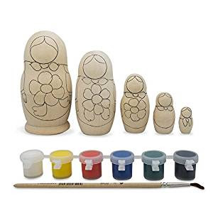 Paint your own Russian nesting dolls