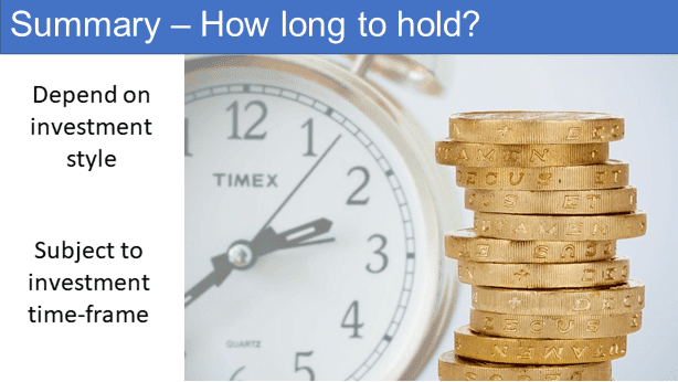 Summary - how long to hold a stock