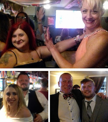 Enjoying the Lindsey Lodge Hospice fundraising evening at the Black Bull pub in Brigg - September 2020
