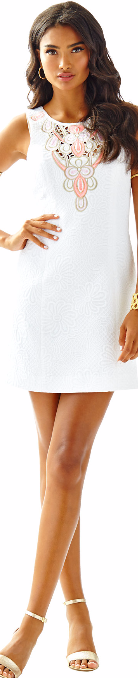 Lilly PultizerLogan Embroidered Shift Dress