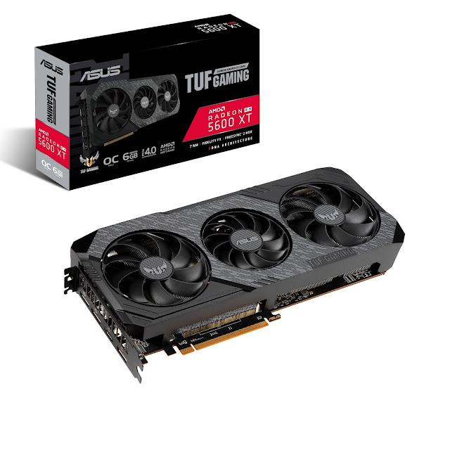 Novas placas gráficas ASUS ROG Strix, ASUS TUF Gaming e Dual Radeon RX 5600 XT disponíveis mundialmente
