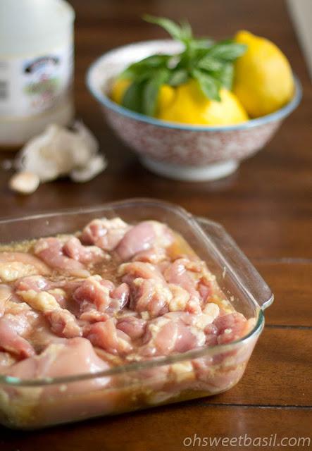 honey lemon basil chicken ohsweetbasil.com