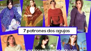 7 modelos para ti tejidos a dos agujas | Patrones y moldes