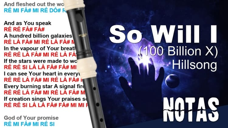 So Will I (100 Billion X) -Hillsong - Musical notes