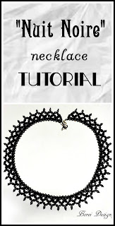 Free diy necklace beading weaving pattern tutroial using seed beads.