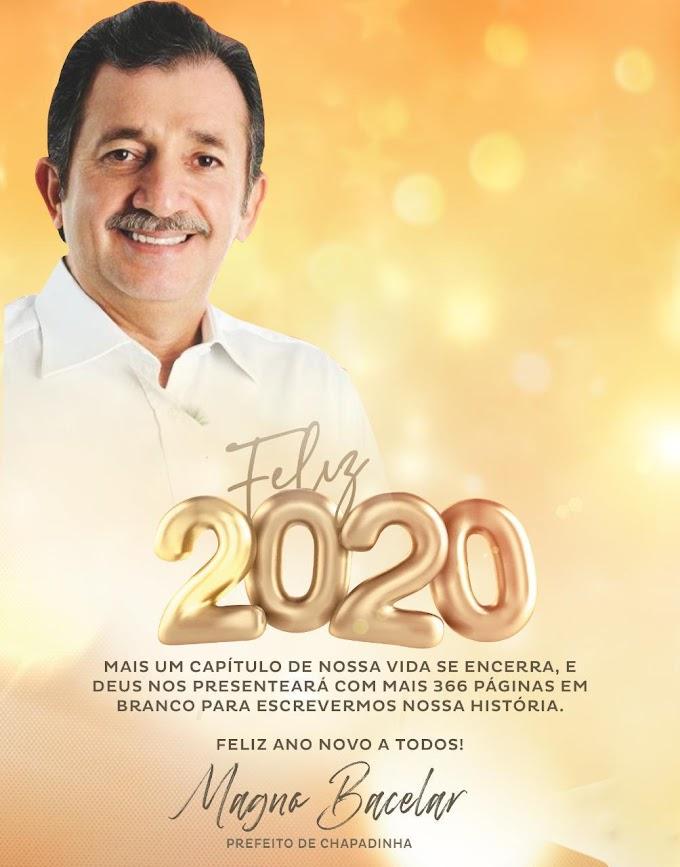 Mensagem de Ano Novo do prefeito Magno Bacelar