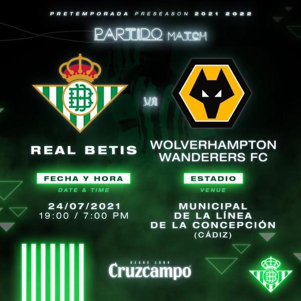 El Betis se medirá el 24 de julio al Wolverhampton en un amistoso