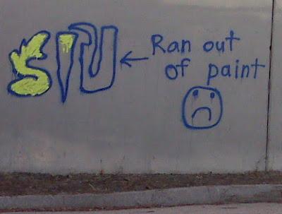 Graffeur pas trop prévoyant