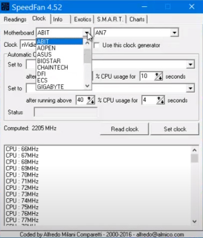 SpeedFan - Kiểm tra nhiệt độ, tốc độ quạt CPU miễn phí c