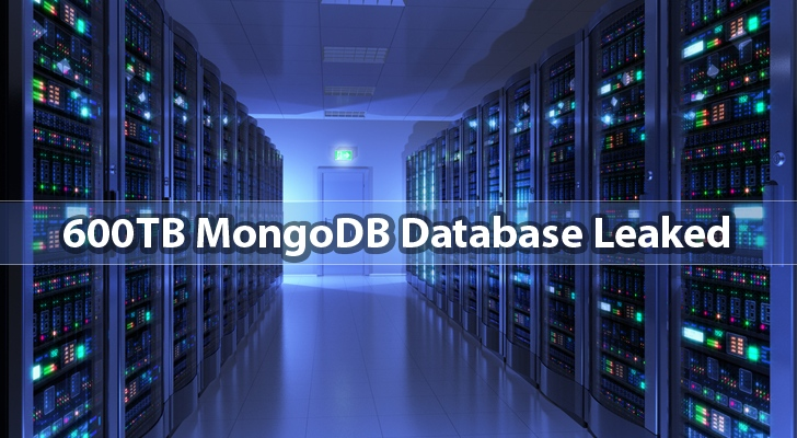 600TB MongoDB Database 'accidentally' exposed on the Internet