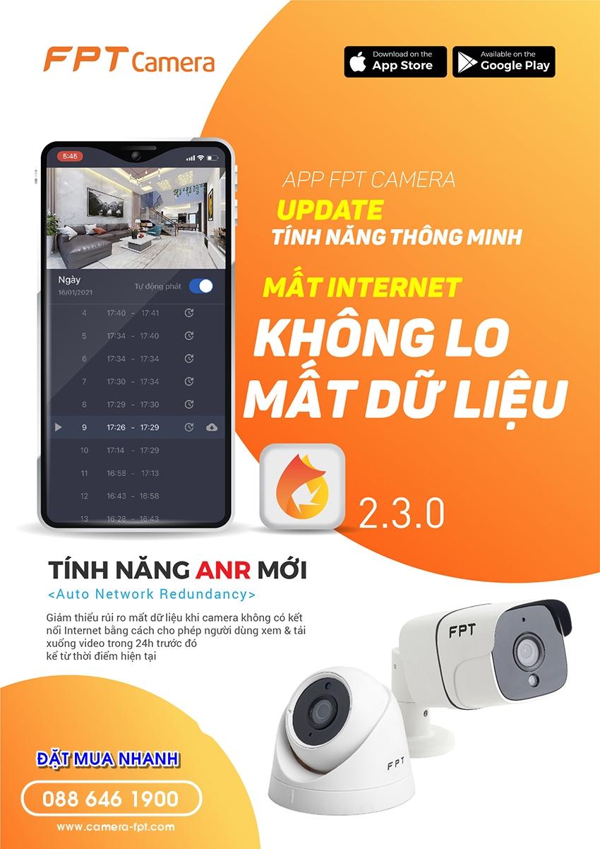 App FPT Camera 2.3 - Mất internet không lo mất dữ liệu