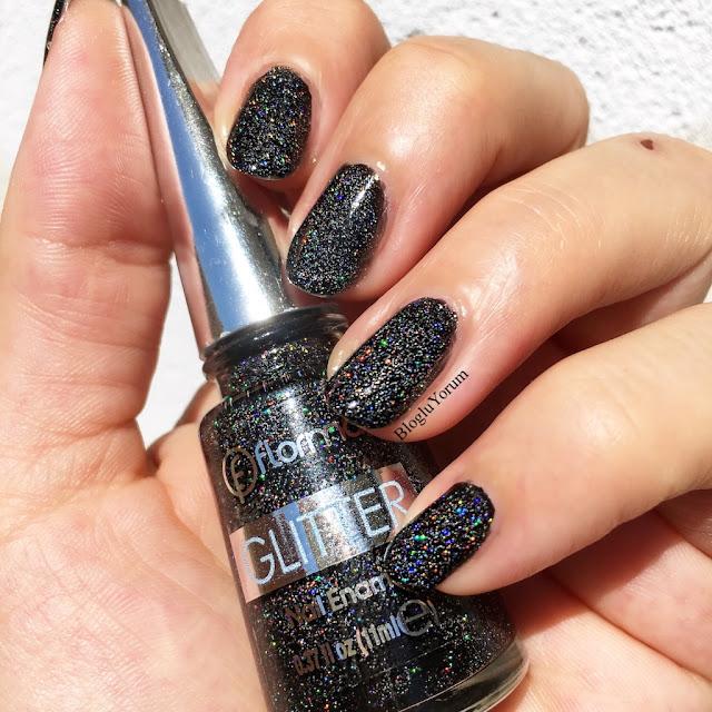flormar glitter gl10 blackstar oje 2
