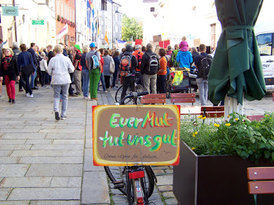 Fridays4Future Demo am 20. September 2019 Stadtplatz Traunstein