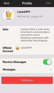 official lazada wechat