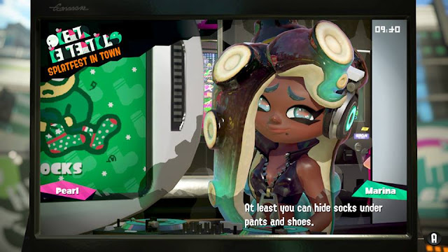 Splatoon 2 Splatfest Marina socks hide under pants and shoes