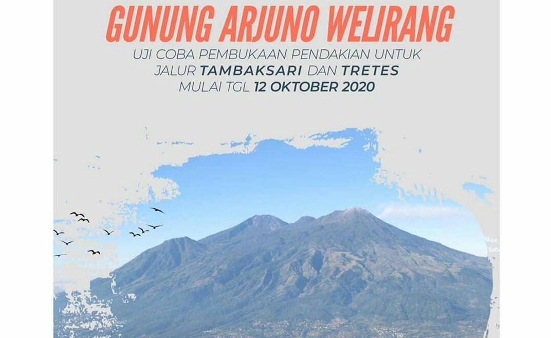 ujicoba jalur pendakian tretes dan Purwosari gunung arjuno welirang mountnesia