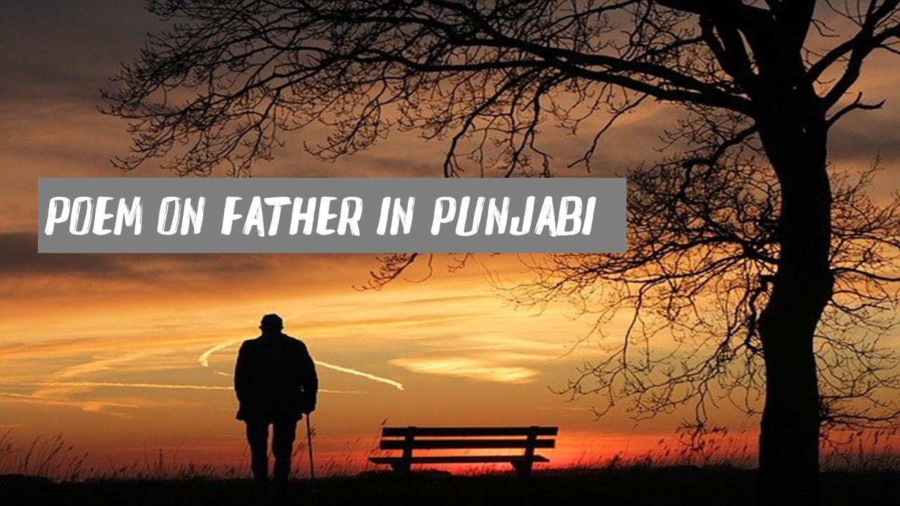 Poem on Father Day in Punjabi