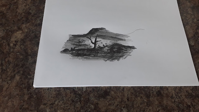 Pencil Sketch of Scenery-epd062021