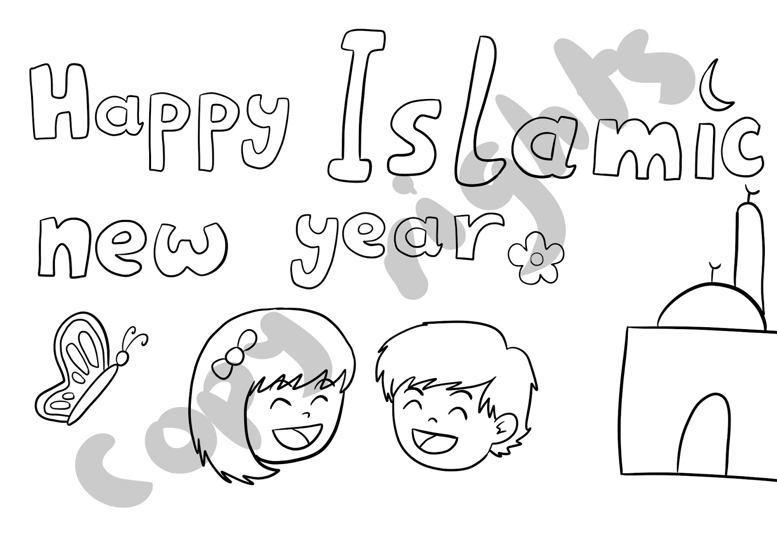 Muslim Child Art Islamic New Year