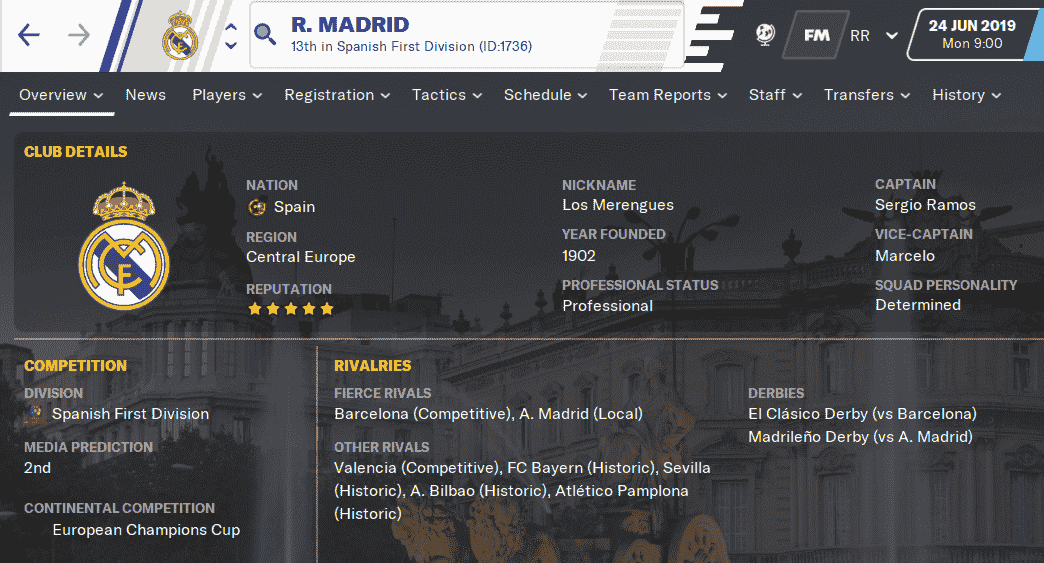 FM20 Team Guide & Tactic - Real Madrid CF